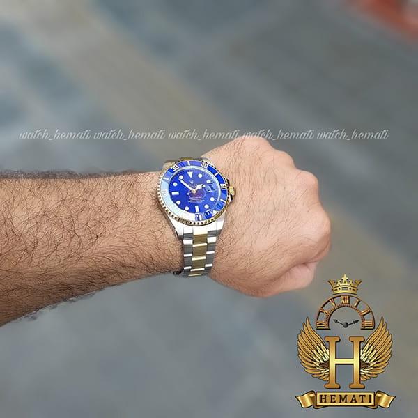 خرید انلاین ساعت مردانه رولکس ساب مارینر Rolex submariner rosb109 نقره ای_طلایی(صفحه آبی)