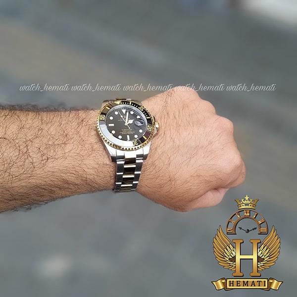 قیمت ساعت مردانه رولکس ساب مارینر Rolex submariner rosb107 نقره ای_طلایی(صفحه مشکی)