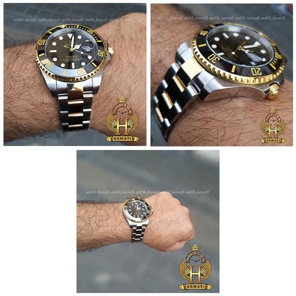 مشخصات ساعت مردانه رولکس ساب مارینر Rolex submariner rosb107 نقره ای_طلایی(صفحه مشکی)