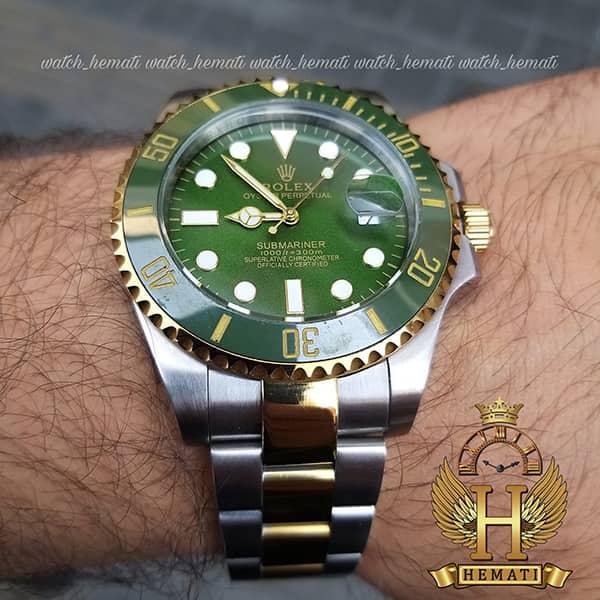 خرید ساعت مردانه رولکس ساب مارینر Rolex submariner rosb108 نقره ای_طلایی(صفحه سبز)