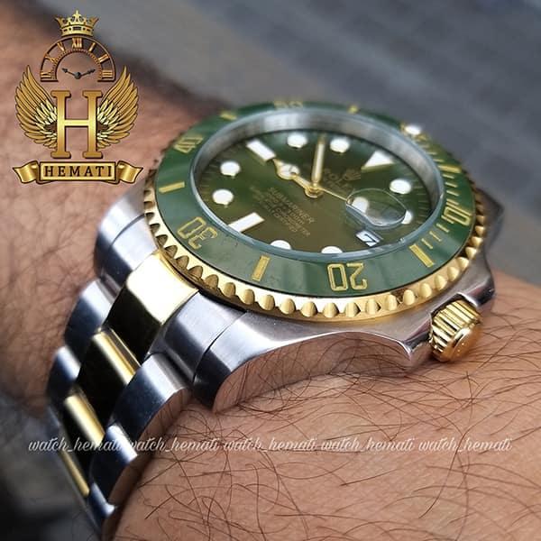 مشخصات ساعت مردانه رولکس ساب مارینر Rolex submariner rosb108 نقره ای_طلایی(صفحه سبز)