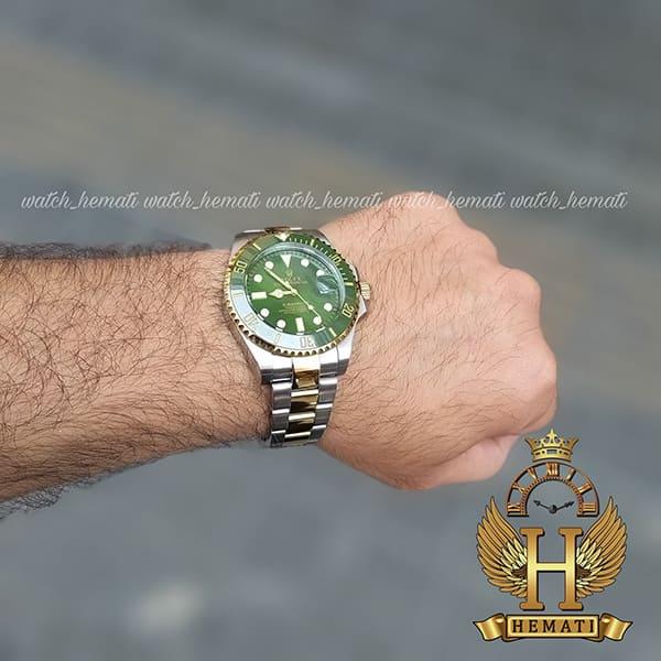 خرید ارزان ساعت مردانه رولکس ساب مارینر Rolex submariner rosb108 نقره ای_طلایی(صفحه سبز)