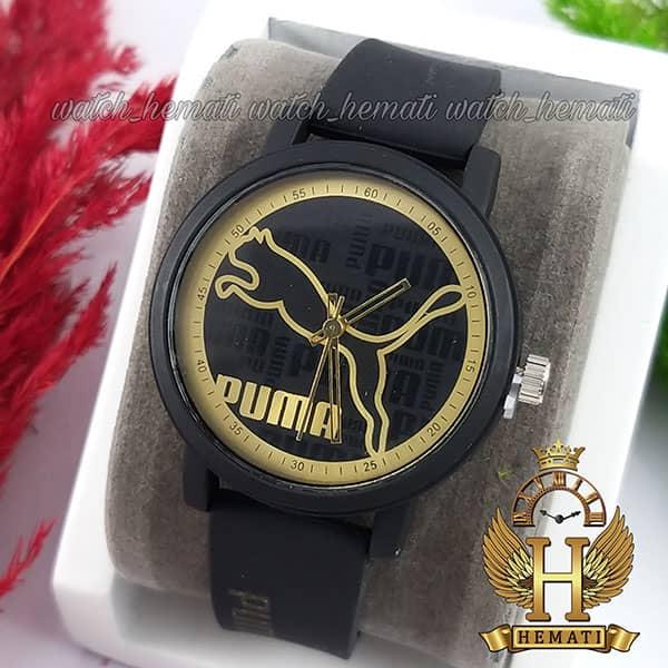 خرید ، قیمت ، مشخصات ساعت اسپرت پوما PUMA PM203 قاب و بند مشکی با صفحه مشکی طلایی