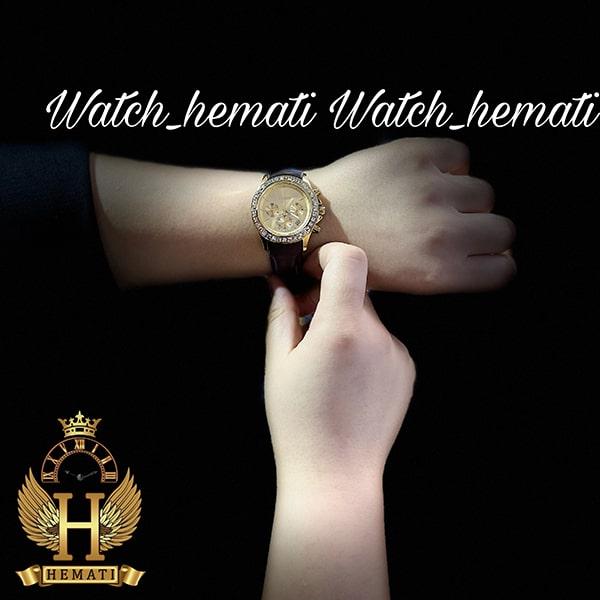 خرید ساعت زنانه سیتیزن سه موتوره بند چرم مدل N-17138L CTL102 قاب و صفحه و قفل طلایی با بند چرم ساده قهوه ای