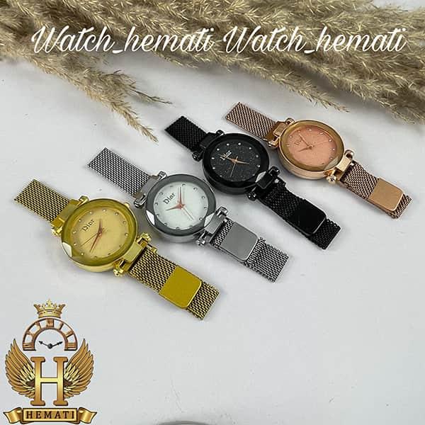 ساعت دخترانه دیور بند حصیری قفل مگنتی DIOR100 در رنگبندی رزگلد ، طلایی ، نقره ای ، مشکی