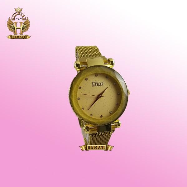 خرید ، قیمت ، مشخصات ساعت دخترانه دیور بند حصیری قفل مگنتی DIOR101 طلایی