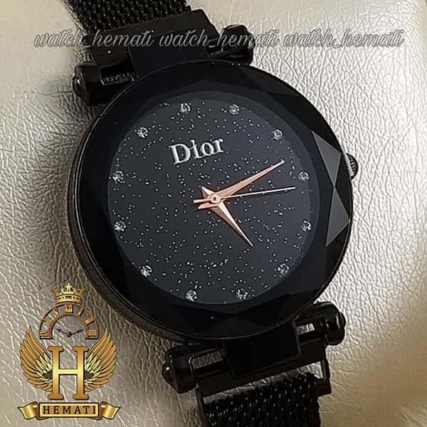 خرید انلاین ساعت دخترانه دیور بند حصیری قفل مگنتی DIOR102 مشکی