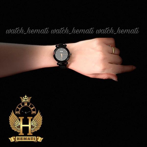 خرید ارزان ساعت دخترانه دیور بند حصیری قفل مگنتی DIOR102 مشکی