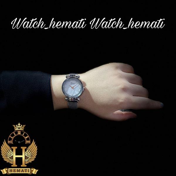 خرید ارزان ساعت دخترانه دیور بند حصیری قفل مگنتی DIOR103 نقره ای