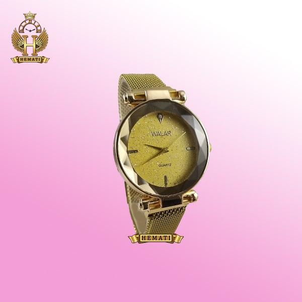 خرید ، قیمت ، مشخصات ساعت دخترانه والار بند حصیری قفل مگنتی WAL101 تمام طلایی