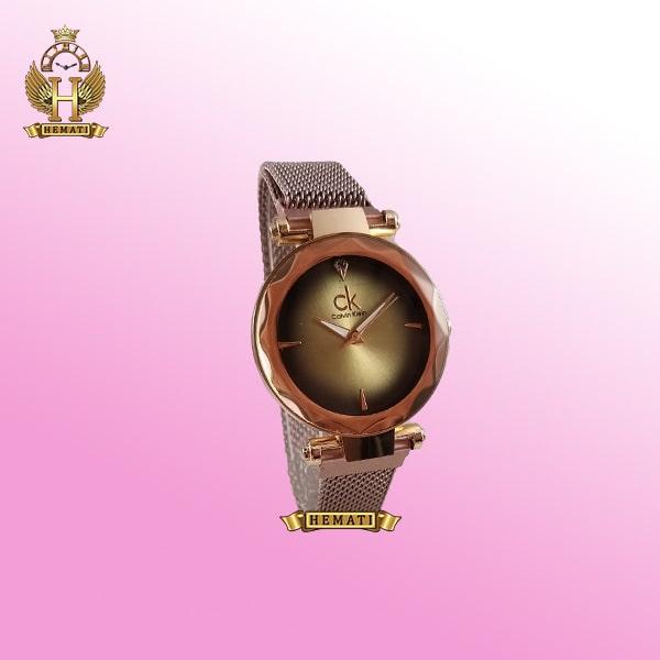 خرید ، قیمت ، مشخصات ساعت دخترانه کلوین کلین بند حصیری قفل مگنتی CK110