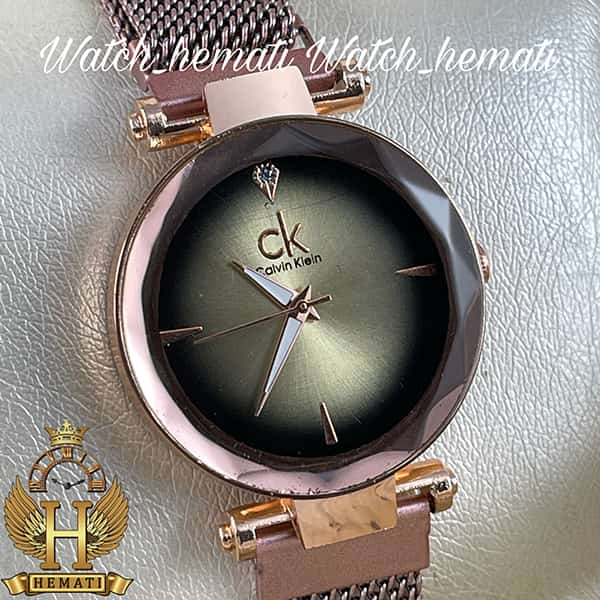 خرید اینترنتی ساعت دخترانه کلوین کلین بند حصیری قفل مگنتی CK110