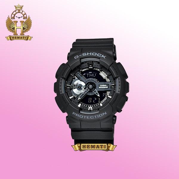 ساعت مردانه کاسیو جی شاک Casio G-Shock GA-110RG مشکی و داخل صفحه نقره ای