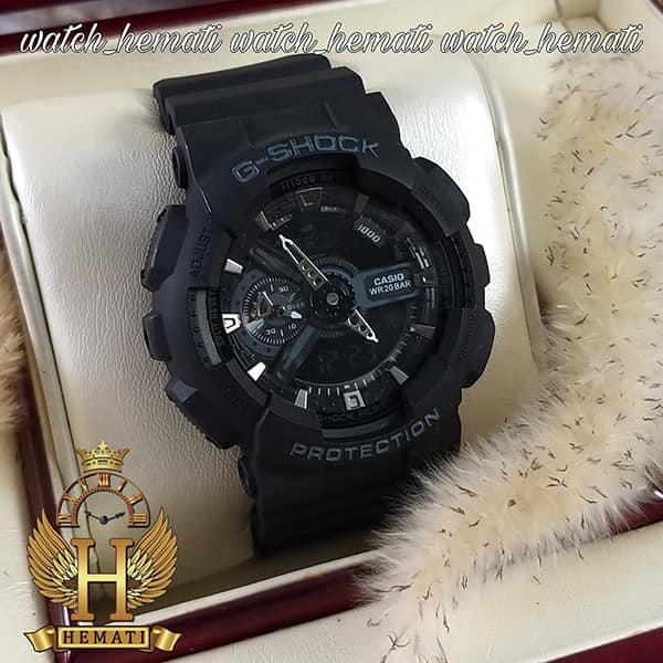 خرید اینترنتی ساعت مردانه کاسیو جی شاک Casio G-Shock GA-110RG مشکی و داخل صفحه نقره ای