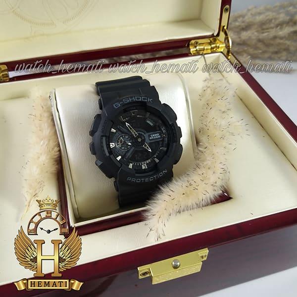 قیمت ساعت مردانه کاسیو جی شاک Casio G-Shock GA-110RG مشکی و داخل صفحه نقره ای