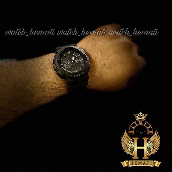 مشخصات ساعت مردانه کاسیو جی شاک Casio G-Shock GA-110RG مشکی و داخل صفحه نقره ای