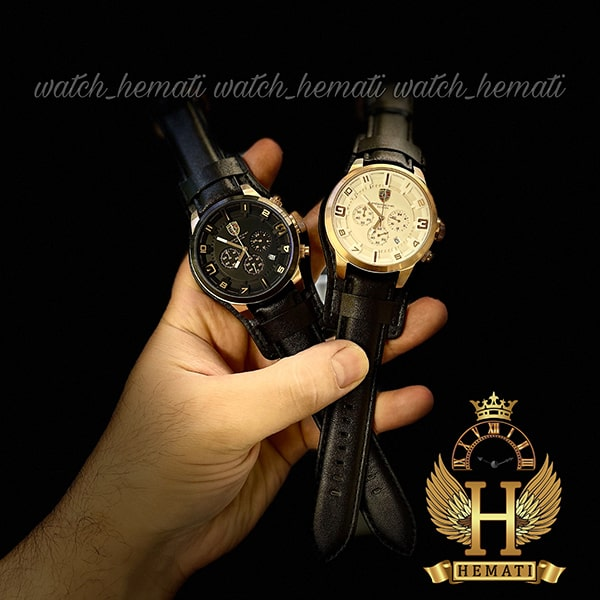 ساعت مردانه پورشه دیزاین بند چرم PORSCHE DESIGN JP-24056M بند چرم مشکی