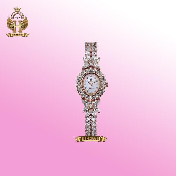 ساعت زنانه رویال کرون Royal Crown 2527 مدل پروانه به رنگ طلایی تک دور بند با نگین سوارفسکی