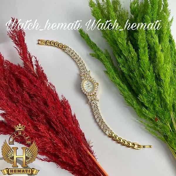 مشخصات ساعت زنانه رویال کرون Royal Crown 2527 مدل پروانه به رنگ طلایی تک دور بند با نگین سوارفسکی