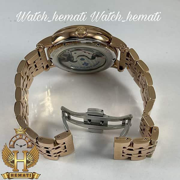 مشخصات ساعت مردانه پتک فیلیپ اتوماتیک Patek Philippe PP100 صفحه طرح مار رنگ رزگلد