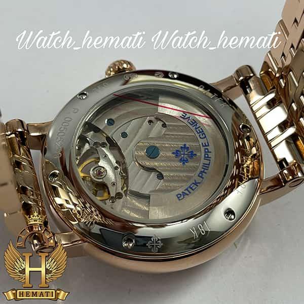 خرید ارزان ساعت مردانه پتک فیلیپ اتوماتیک Patek Philippe PP100 صفحه طرح مار رنگ رزگلد