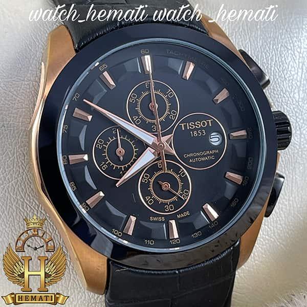 خرید ، قیمت ، مشخصات ساعت مردانه تیسوت بند چرم مشکی مدل 035G قاب مشکی_رزگلد