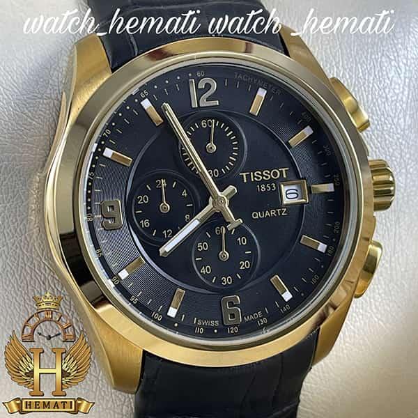 خرید ، قیمت ، مشخصات ساعت مردانه تیسوت بند چرم مشکی مدل 036G قاب طلایی