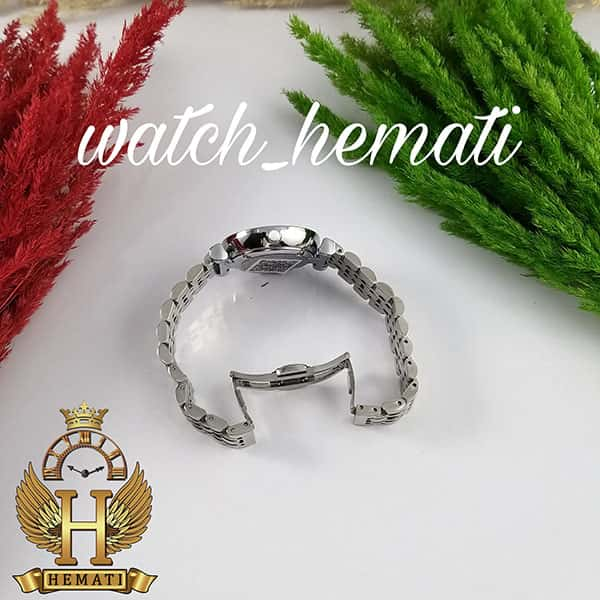 خرید ارزان ساعت زنانه امپریو آرمانی AR102 قاب و بند نقره ای با صفحه نگین دار سفید