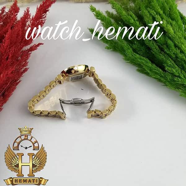 خرید ارزان ساعت زنانه امپریو آرمانی AR101 قاب و بند طلایی با صفحه نگین دار سفید