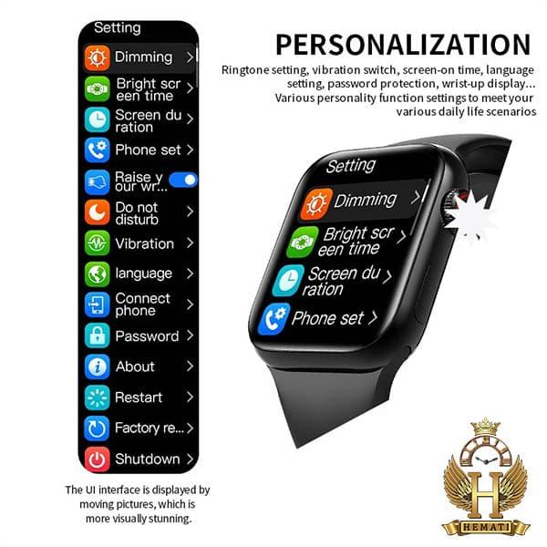 ساعت هوشمند smart watch ak76 در رنگبندی مشکی ، نقره ای ، سرمه ای