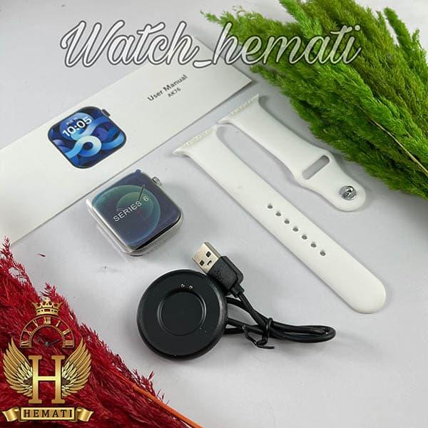 آنباکس ساعت هوشمند smart watch ak76 رنگ نقره ای