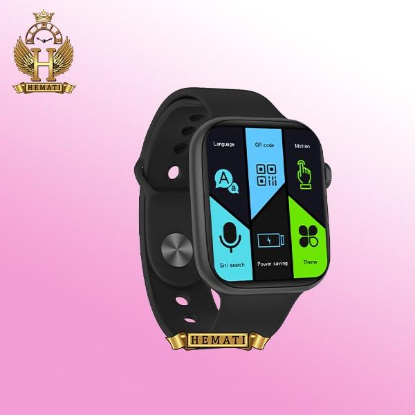 خرید اینترنتی ساعت هوشمند SMART WATCH FK99 رنگ مشکی با یک بند نایلونی اضافی