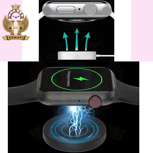 شارژر وایرلس ساعت هوشمند SMART WATCH FK99 رنگ مشکی با یک بند نایلونی اضافی