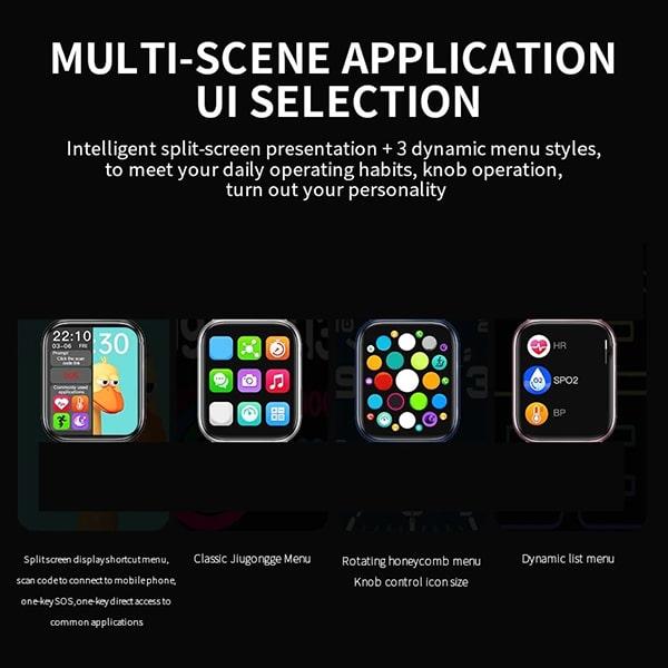 خرید ساعت هوشمند Smart Watch HW16 در رنگبندی قرمز ، آبی ، مشکی ، نقره ای