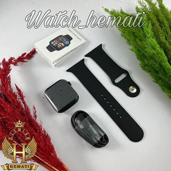 عکس جعبه ساعت هوشمند Smart Watch HW16 به رنگ کامل مشکی