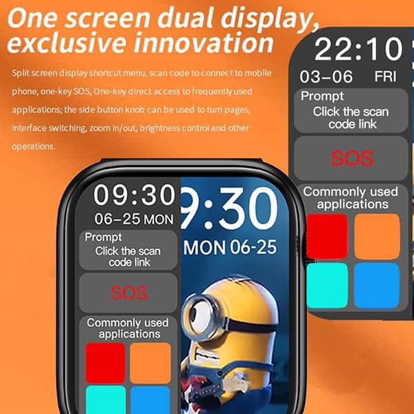 خرید ساعت هوشمند Smart Watch HW22 در رنگبندی مشکی و رزگلد