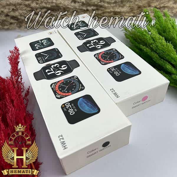 قیمت ساعت هوشمند Smart Watch HW22 در رنگبندی مشکی و رزگلد