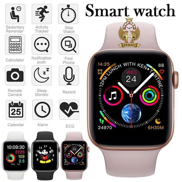 قیمت ساعت هوشمند SMART WATCH W46 در رنگبندی نقره ای و مشکی
