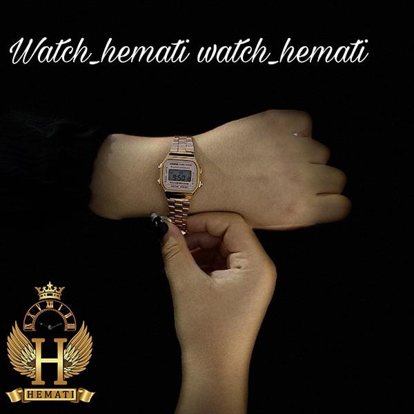 خرید ساعت زنانه کاسیو نوستالژی CASIO A168W رزگلد