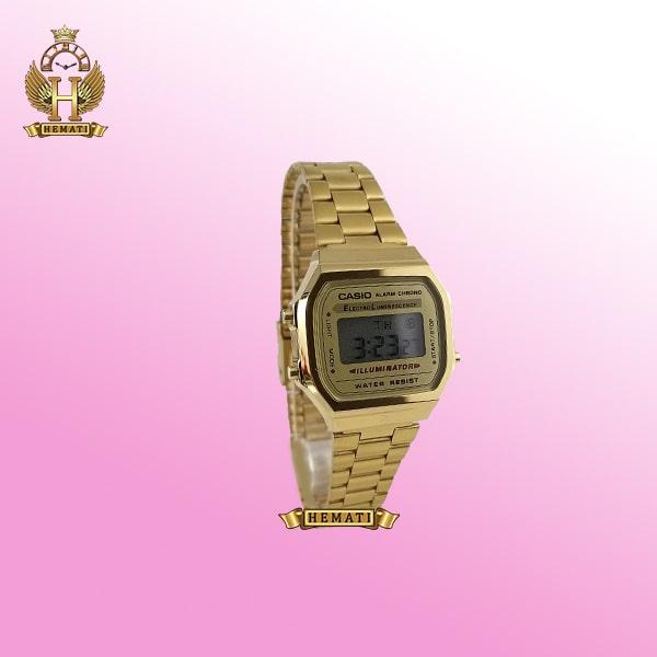 ساعت زنانه کاسیو نوستالژی CASIO A168W طلایی