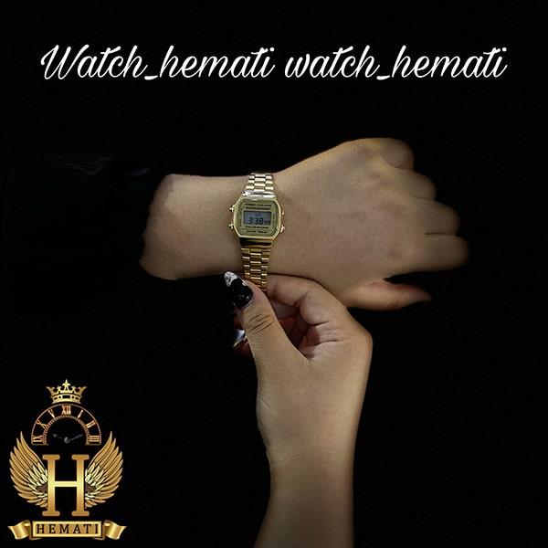 خرید انلاین ساعت زنانه کاسیو نوستالژی CASIO A168W طلایی