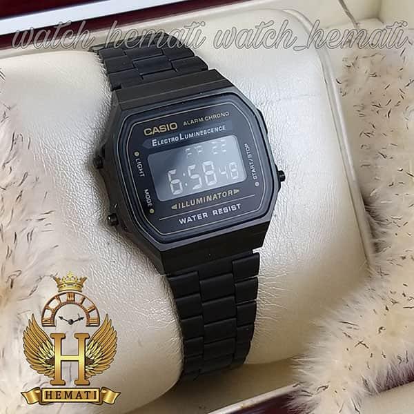 قیمت ساعت اسپرت کاسیو نوستالژی CASIO A168 مشکی