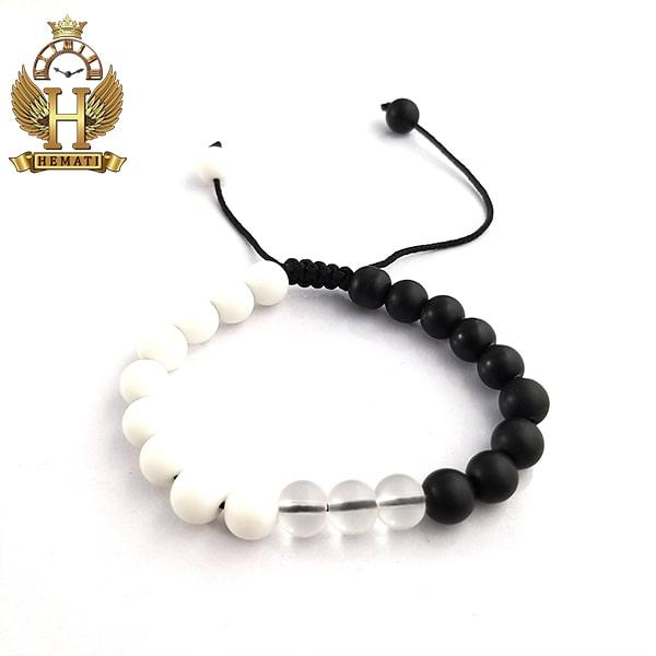 دستبند بافت با سنگ اونیکس DDD1401