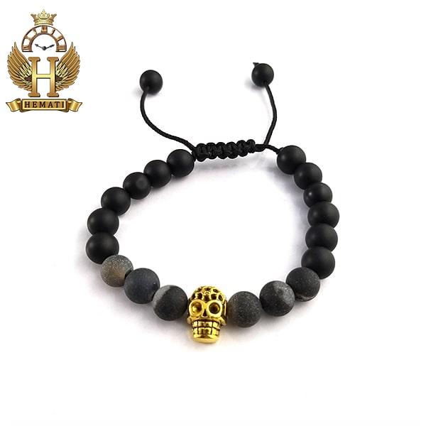 دستبند بافت با سنگ اونیکس DDD1402