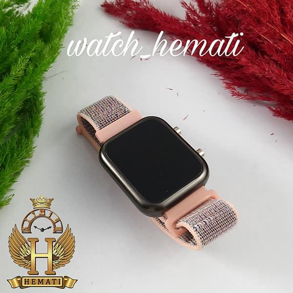 خرید انلاین ساعت ال ای دی اسپرت led1100 در رنگ بند صورتی