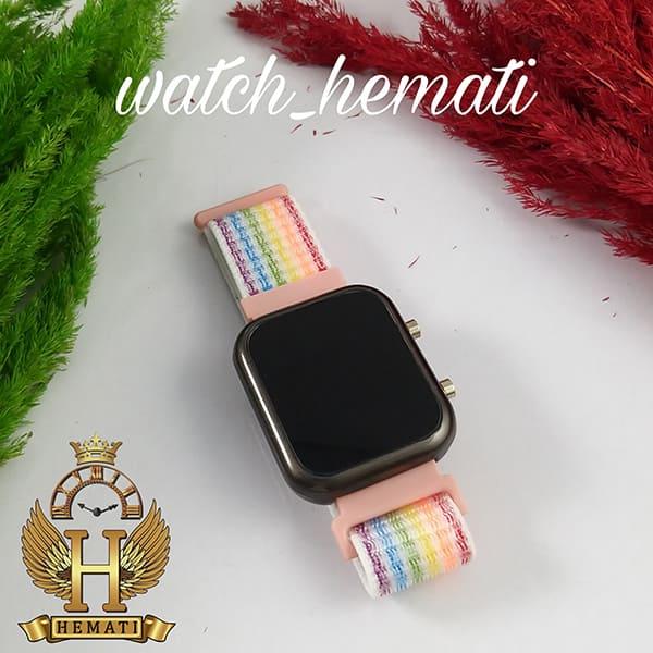 عکس ساعت ال ای دی اسپرت led1100 در رنگ بند رنگی