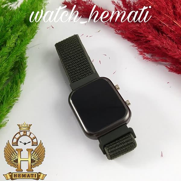 مشخصات ساعت ال ای دی اسپرت led1100 در رنگ بند سبز پرنگ