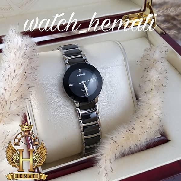 خرید ، قیمت ، مشخصات ساعت زنانه رادو دیا استار جوبیل Rado Diastar Jubile RDL104 نقره ای مشکی