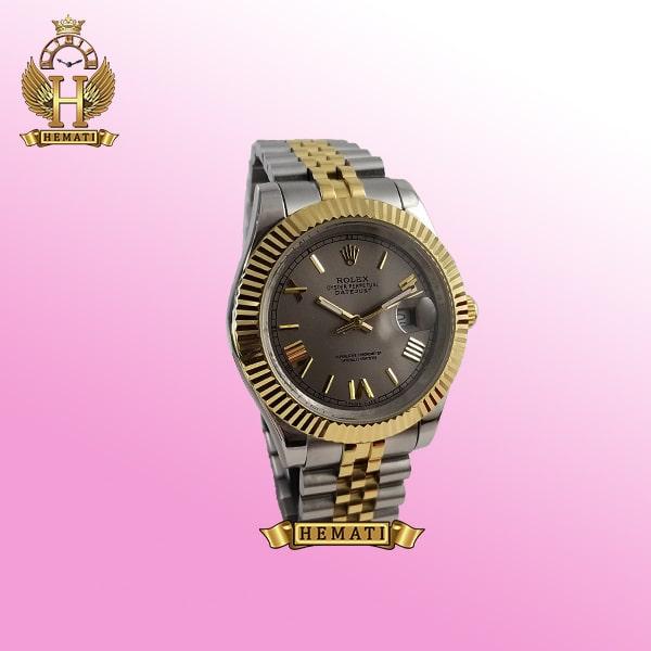 ساعت مردانه رولکس دیت جاست Rolex Datejust RODJM301 نقره ای طلایی ، ایندکس یونانی