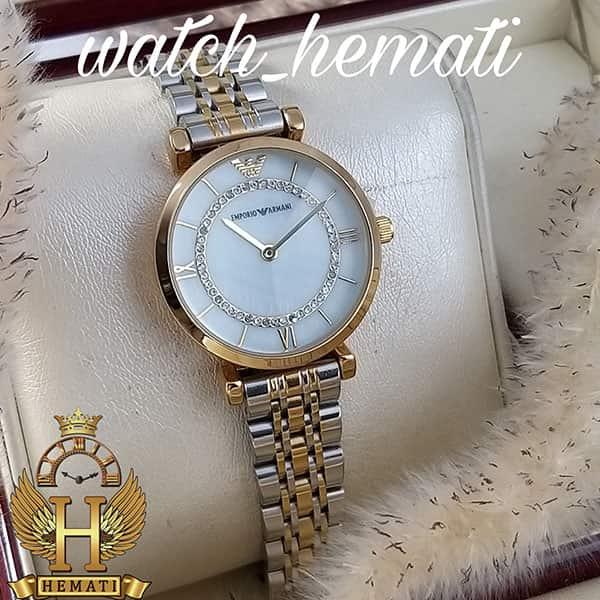 خرید ، قیمت ، مشخصات ساعت زنانه امپریو آرمانی AR111 نقره ای-طلایی